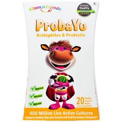 ProbaYo Gummies, Acidophilus & Prebiotic, Vanilla Yogurt, 20 Bears, Vitamin Friends
