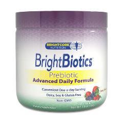 BrightBiotics Prebiotic Advanced Daily Formula Powder, Berry Flavor, 108 g, Brightcore Nutrition