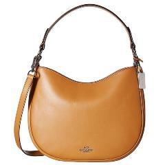 Coach Nomad Silver/Light Saddle Leather Crossbody Handbag