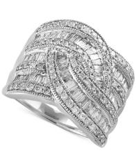 Classique by Effy Diamond Wide-Style Ring (1-1/2 ct. t.w.) in 14k Gold or White Gold -  Effy Collection