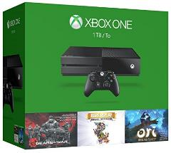 Xbox One 1TB Console - 3 Games Holiday Bundle (Gears of War: Ultimate Edition + Rare Replay + Ori and the Blind Forest) -  Microsoft