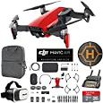 DJI Mavic Air Fly More Combo (Flame Red) Drone Combo 4K Wi-Fi Quadcopter with Remote Controller Mobile Go Bundle with Backpack VR Goggles Landing Pad 16GB microSDHC Card HD Filter Kit
