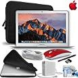 Apple MacBook Air 13.3″ 128GB SSD Notebook Laptop [Mid-2017 - Newest Version] Gift Bundle with Fitted Carrying Case, Red Wireless Mouse,eDigitalUSA Stylus and more... -  Apple Bundles