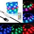 KAPATA 1.5M USB LED Strip Tape Lights for Bike Frame With Remote Dream Color For Bicycle Decoration Lights