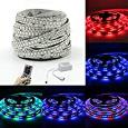 SZMINILED LED Ribbon, RGB DC12V 5 Meters SMD 2835 Non-Waterproof Light strip with 44 Keys Remote Controller for Home Decoration