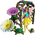 Fairy Garden Miniature Arch Set of 5 pcs, Hand Painted Figurines & Accessories, Kit For Outdoor or House Decor, By Mood Lab