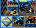 """1/2 Yard - New Holland Tractor """"Logo Block"""" Cotton Fabric - Officially Licensed (Great for Quilting, Sewing, Craft Projects, Throw Pillows & More) 1/2 Yard X 44"""" -  RJR Fabrics"""