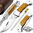 "Olive Wood 7.5"" Handmade Stainless Steel Folding Pocket Knife With Back Lock 100% Prime Quality Excellent Design in Stainless Steel-A Priceless Gift By Best.Buy.Damascus1"