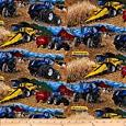 "New Holland Tractor ""Down on the Farm"" Cotton Fabric - Officially Licensed (Great for Quilting, Sewing, Craft Projects, Throw Pillows & More) 1/2 Yard X 44"" -  RJR Fabrics"