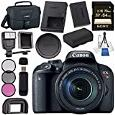 Canon EOS Rebel T7i DSLR Camera with 18-135mm Lens 1894C003 + Sony 64GB SDXC Card + LPE-17 Lithium Ion Battery + Flash + Canon 100ES EOS shoulder bag + Card Reader + Memory Card WalletBundle